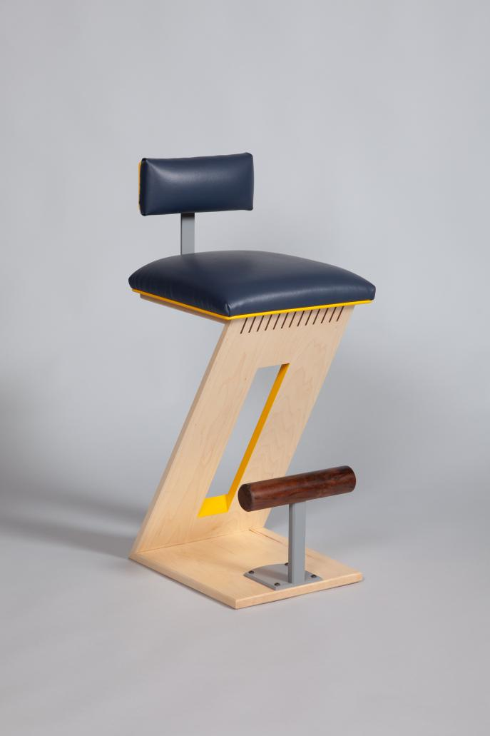 Kitchen Stool, Custom furniture, Maple, Upholstered Stool, commission