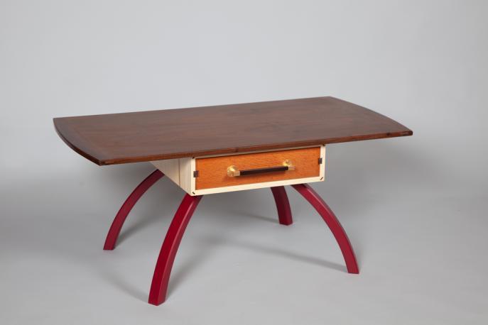 Coffee table, Walnut, Wood, Custom furniture, Commission